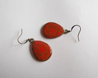 mandala drops earrings