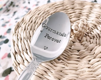 "Spoon ""gourmet forever"" - engraved stainless steel spoon"