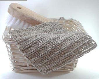 MOP tawashi 100% natural hemp 15 x 15 cm