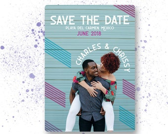 Save The Date Announcement Charles & Chrissy | DIY Printable