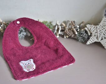 Cotton and Terry cloth bib (medium)