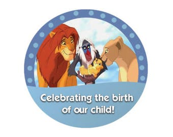 Celebrating the Birth of our Child Button - Lion King Button - Theme Park Pin - Disney Park Button - Baby Arrival Celebration
