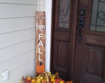 welcome wood sign, fall decor, vertical sign, fall sign for porch, porch sign, fall porch sign, wood welcome sign, fall sign front door