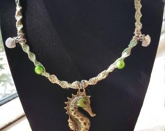 Hemp Seahorse Necklace