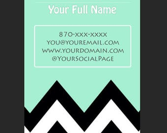Vertical Chevron Business Card