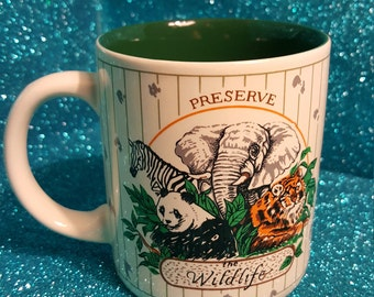 Vintage K.I.C Preserve The Wildlife Mug