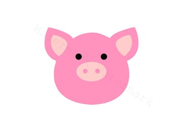 Pig SVG & Studio 3 Cut File for Cricut Silhouette Brother Animal SVGs Files Cutout Piggy Cutout Ham Bacon Decoration Baby Pink Bank Piglet