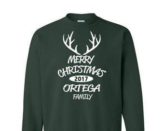 Custom Customizable Family Reunion Christmas Crewneck Sweatshirt Sweater Bulk Wholesale Silk Screen Printing