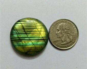 28.60 mm,Round Shape Labradorite Cabochon/Golden flaseh/Attractiv Labradorite/wire wrap stone/pendent size Labradorite/ Labradorite Cabochon