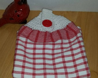 Kitchen Towel with Crochet Towel Topper