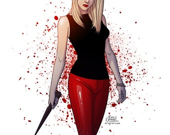 Buffy the Vampire Slayer Fan Art Print