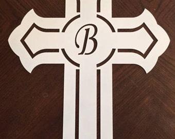 Monogrammed Steel Cross