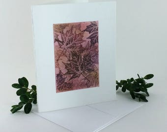 Maple tapestry no. 1 blank card, individually handmade, not a reproduction: A2, notecards, fine cards, SKU BLA21006