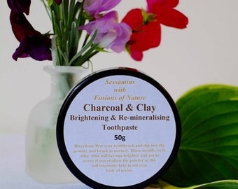 Charcoal and Clay Toothpaste 50g