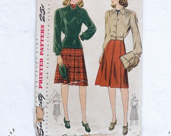 1940s sewing pattern jacket and skirt