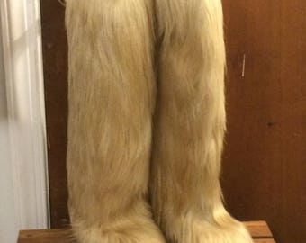 Open Country Apres Ski Boots Yeti Goat Fur
