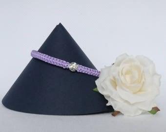 Diamante Rhinestone Macrame Bracelet, Adjustable Cord Bracelet,  Friendship Bracelet, Braided Bracelet, Diamante Gift, Stacker Bracelet