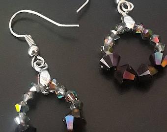 Swarovski Crystal dangle bling earrings