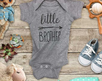 little BROTHER hipster arrow baby bodysuit for baby announcement pregnancy - Baby bodysuit or Toddler Shirt or Youth Shirt