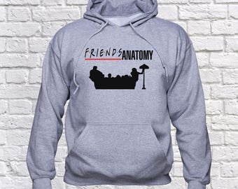 Friends TV sweatshirt/ Greys Anatomy hoodie/ Tv series pullover/ Friends Tv show/ Grey's Anatomy fan/ jumper/ sweater/ hoody/ Fan gift/(B84)