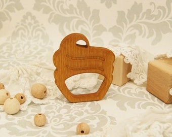 Organic Wooden Teether. Beech Teething Toy. Hand-carved Teether. Natural Baby Toy. Eco Friendly Infant Toy. Newborn gift.