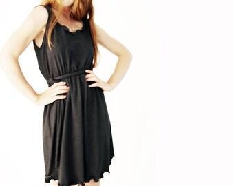 SHORT DRESS women's dress, sleeveless dress, knee length dress, custom clothing, treehouse28, summer dress, belted dress, comfortable dress