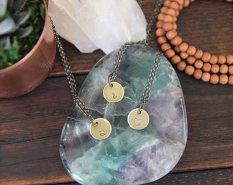 little symbol . a hand stamped soul mantra necklace