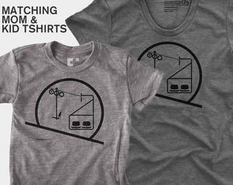 Sunrise / Sunset Chairlift - Matching Shirts (Women & Kid)