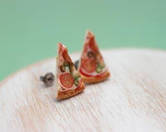 Veggies Pizza - Studs / Post Earrings