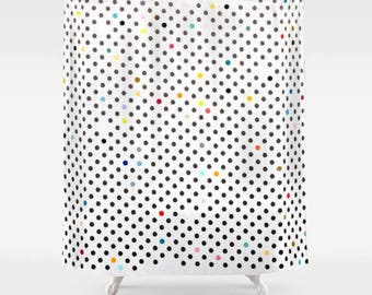 Shower Curtain  - Chalked Polka Dots