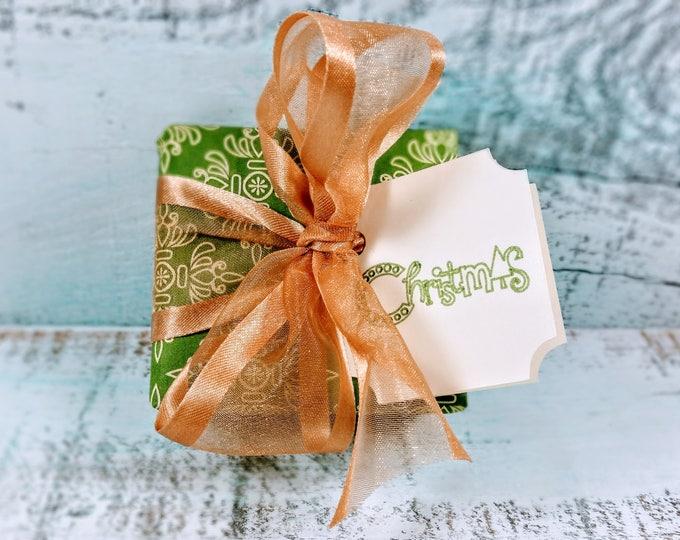 Artisan Green & Gold Christmas Soap Gift