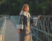 Faux Fur Coat... Fake Fur Coat... Wool Coat... Winter Coat... Vintage Coat... Warm Coat... Coat For Women... Coat For Woman