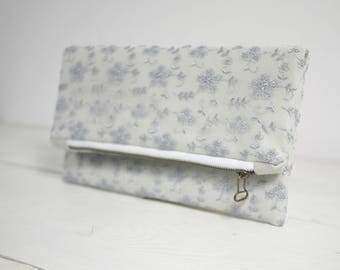 Light gray lace clutch | Gray Wedding Clutch | Grey Wedding Purse | Bridal Gray Clutch