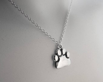ANIMAL RESCUE CHARITY Paw Necklace, 50 Percent to Charity, Saving Cats, Saving Animals, Animal Advocacy, Happy Cat Rescue