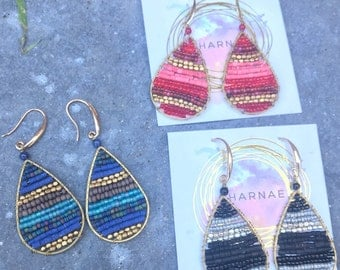 Colorful Seed bead drop earrings