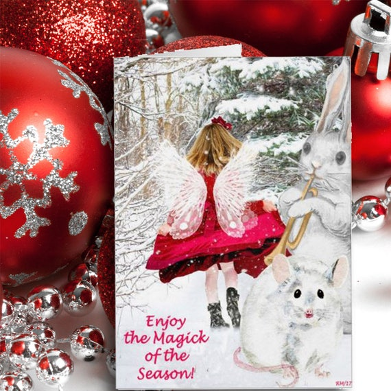 Printable Yule Fairy Card