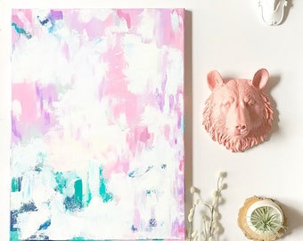 READY to SHiP 18x24 Painting Acrylics on Canvas Modern Art OOAK / Original Painting Nursery wall art Kids room Girls Room wall decor Office