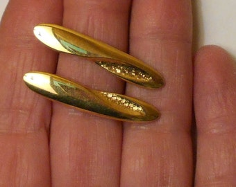 1960s pierced earrings MONET MOD minimalist jewelry