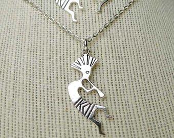 Kokopelli Necklace, Southwestern Jewelry, Native God of Mischief, Native American Deity Jewelry, Kokopelli Jewelry, Southwestern Necklace