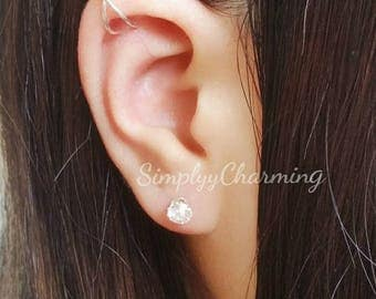 Upper Cartilage Ear Cuff Criss Cross Conch Fake Ear Cuff Earring Helix Jewelry - Sterling Silver/14K Gold Filled