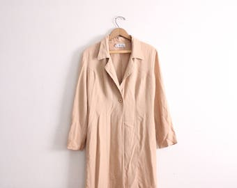 Minimal Tan Loose Lady Jacket
