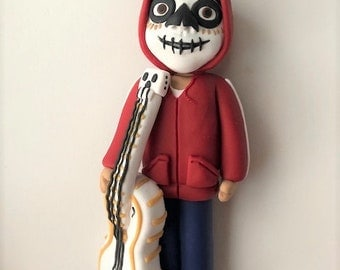 Miguel Sculpture - Day of the Dead - Coco - Guitar