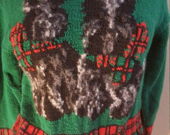 Vintage 80s SCOTTIE Dog Sweater