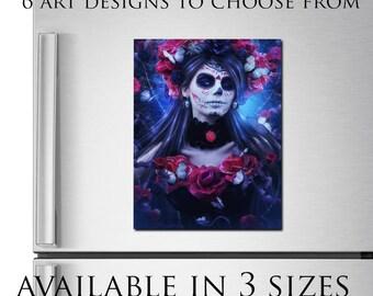 large fridge magnet Gothic art print