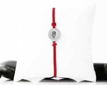 Hamsa Bracelet, Hamsa Jewelry, Hamsa, Hamsa Hand, Protection Bracelet, Evil Eye Bracelet, Hamsa Charm, Hand of Fatima, Silver Hamsa, b246cS