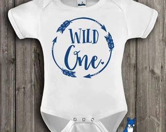 First birthday baby clothes-Wild One-Boho Baby Bodysuit-1st birthday outfit-baby bodysuit-Baby clothing-Cute baby clothes-Trendy Kids-344