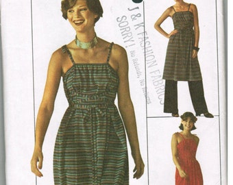 Simplicity 7751 Misses Jiffy Dress or Tunic and Pants