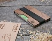 Wood wallet, Walnut  SLIM, Minimalist Wooden Wallet, Card holder, personalized boyfriends gift, minimalist wallet, insert wallet card