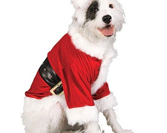Santa Dog, Santa dog jacket and hat, Santa Claus costume, dog costume, Santa, Santa Claus
