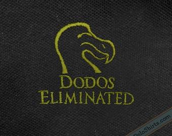 Dodos Eliminated - Ducks Unlimited Parody - Funny Polo Shirt